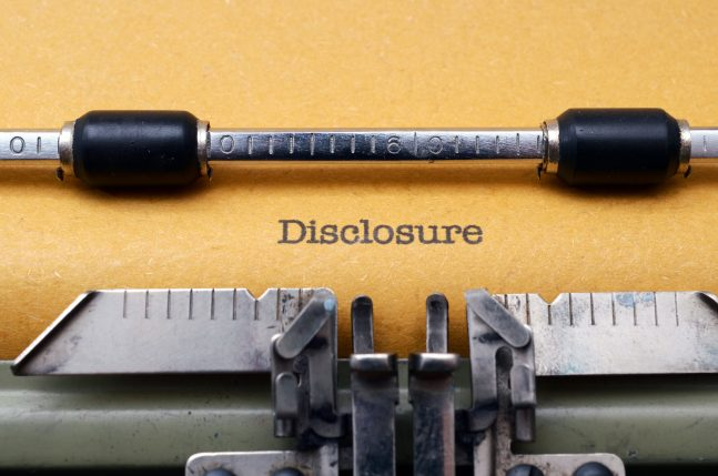 Duty of Disclosure to Former Spouse
