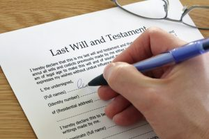Person making their last will and testament