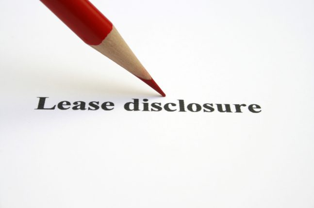 Commercial Lease Disclosure Statements
